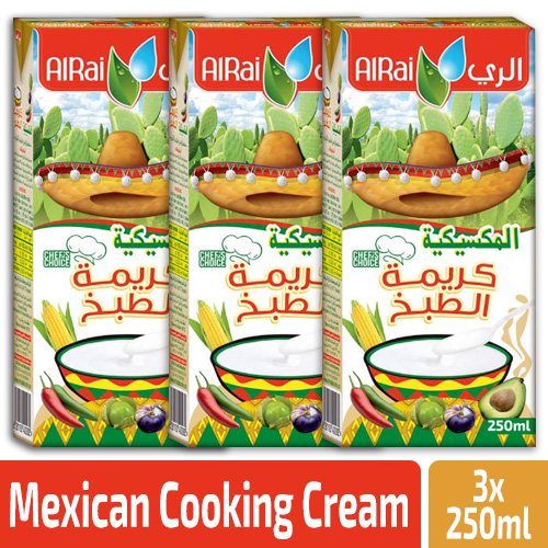 Alrai Cooking Cream Mexican 3x250ml