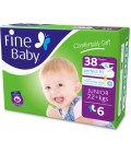Fine Baby Diaper Size6  38 Diapers