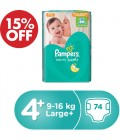 Pampers Baby-Dry No. 4+ 74 Diaper 15% OFF