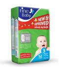 Fine Baby Diaper Jumbo Pack No.3 52 Pc