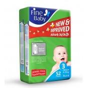 Fine Baby Diaper Jumbo Pack No.3 52 Pc