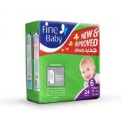 Fine Baby Diaper Junior No.6  24 Pc