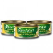 John West Light Meat Tuna Chunks in SunFlower Oil 3x170 g
