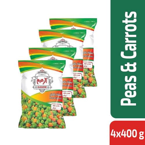 Al Zaeem Peas & Carrots 4x400 g