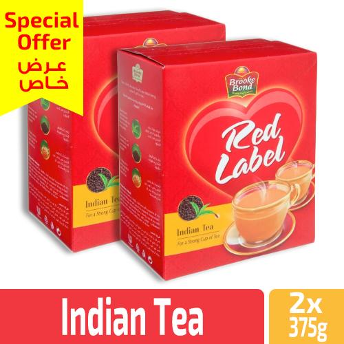 Brooke Bond Red Label Indian Tea 2×375 g