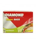 Diamond Zipper Bags 100 Bags