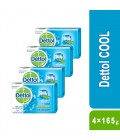 Dettol Cool Bar Soap 4×165g