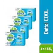Dettol Cool Bar Soap 4×165g