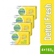 Dettol Fresh Bar Soap 4×165g