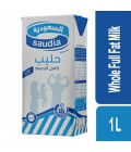 Saudia Whole Full Fat Milk 1 Ltr