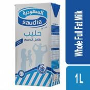 Saudia Whole Full Fat Milk 1 Ltr