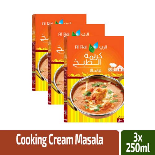 Alrai Cooking Cream Masala 3x250ml