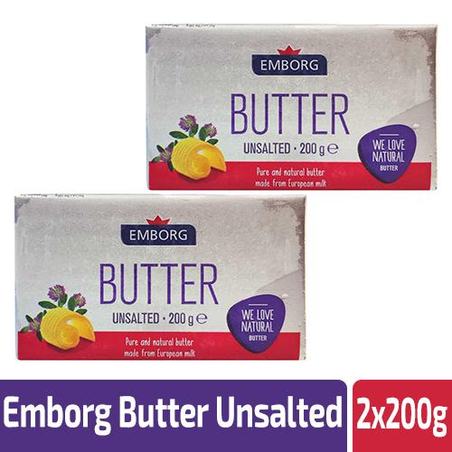 Emborg Butter Unsalted 2x200g